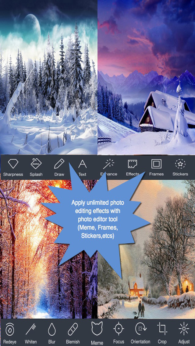 Happy Winter Greeting Cards.Happy Winter e-Cards.Christmas Greeting screenshot 2