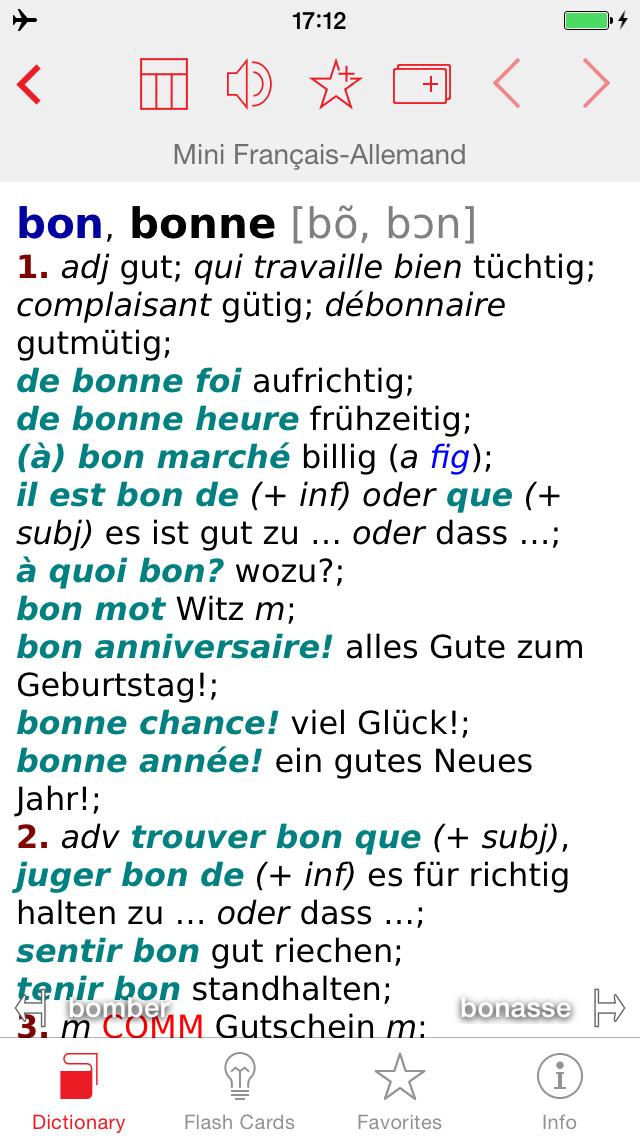 German - French Berlitz Mini Talking Dictionary screenshot 1