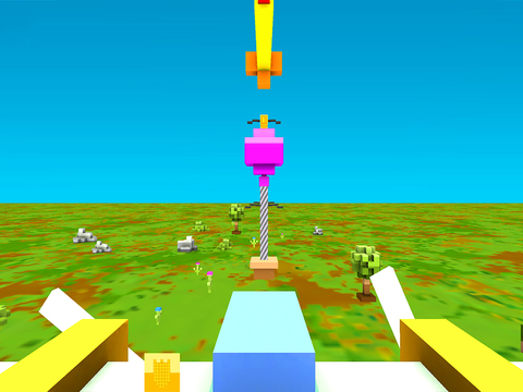 Blocky Plane Gold screenshot 10