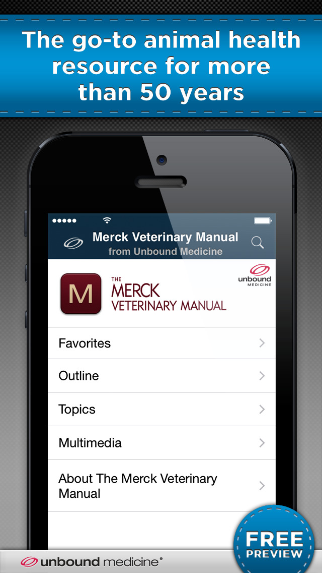 Merck Veterinary Manual screenshot 1