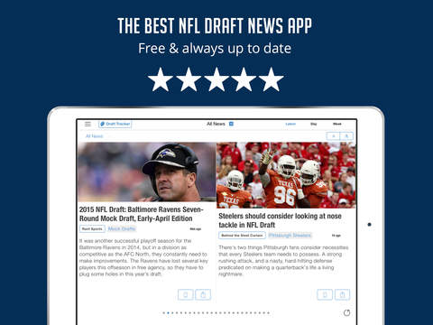 Sportfusion - NFL Draft 2015 News Edition screenshot 6