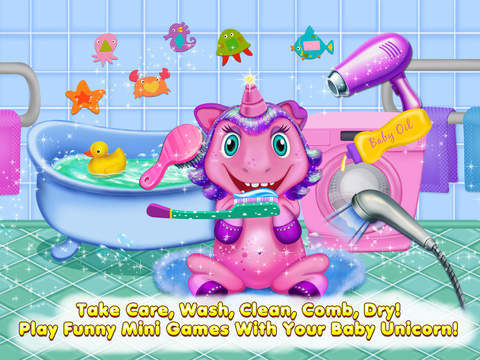 My Baby Unicorn Care – Dress Up, Bath, Feeding & Bed Time screenshot 7