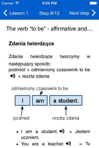 eTutor Angielski A1 for iPhone - náhled