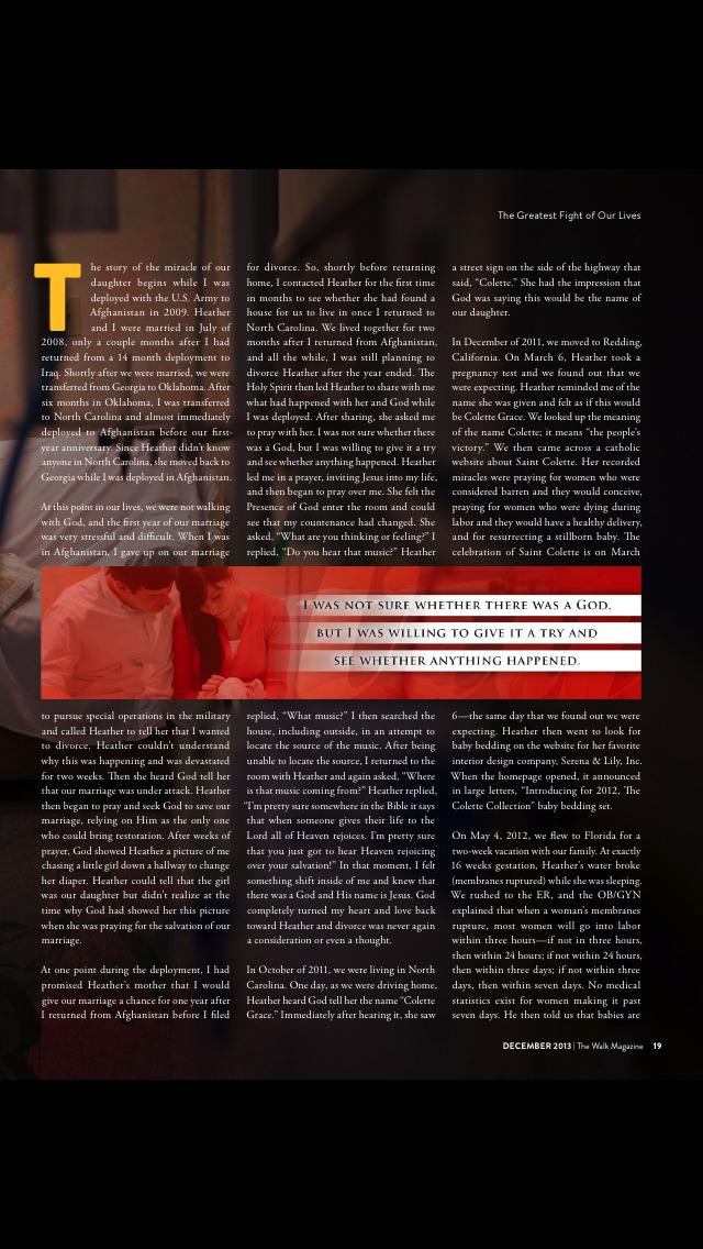 The Walk Magazine screenshot 5