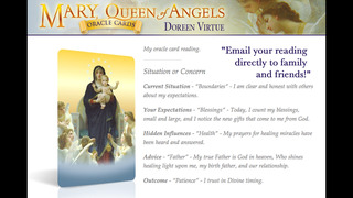 Mary, Queen of Angels Oracle Cards - Doreen Virtue, Ph.D. screenshot 3