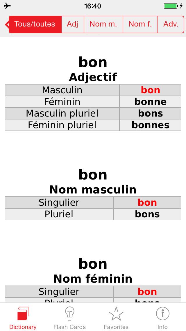French - Spanish Berlitz Basic Talking Dictionary screenshot 5