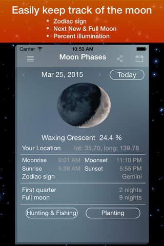 Moon Phase Calendar . - náhled