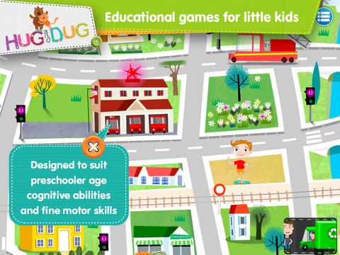 Little Town Explorer -  HugDug educational activity game for little kids. screenshot 5
