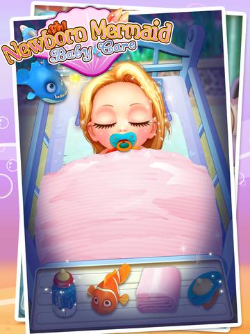 Mermaid's Newborn Baby Doctor - kids game & new baby screenshot 7