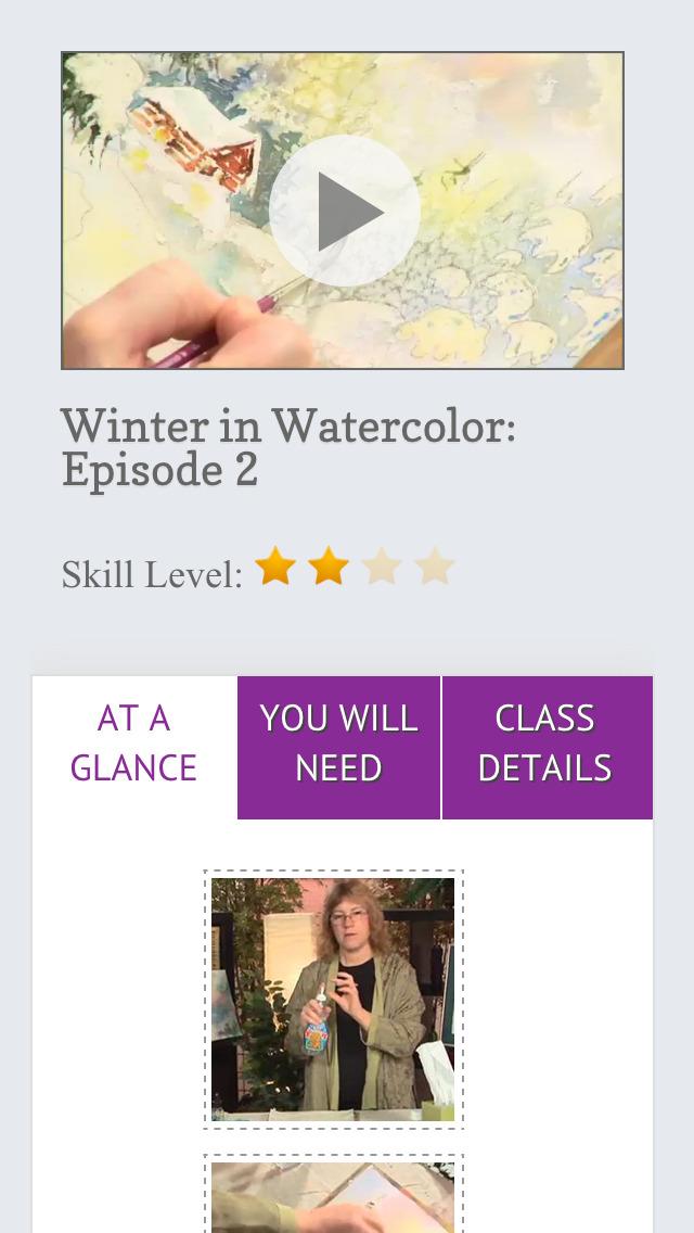 Paint a Winter Landscape in Watercolor screenshot 5