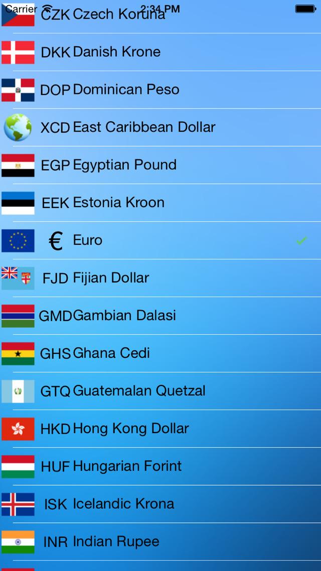 Currency Convert - Watch screenshot 3