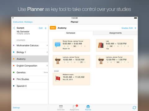 iStudiez Pro – Homework, Schedule, Grades screenshot #4