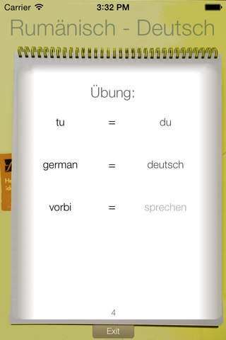 Vocabulary Trainer: German - Romanian - náhled