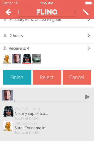 Flinq: task and to-do sharing - náhled