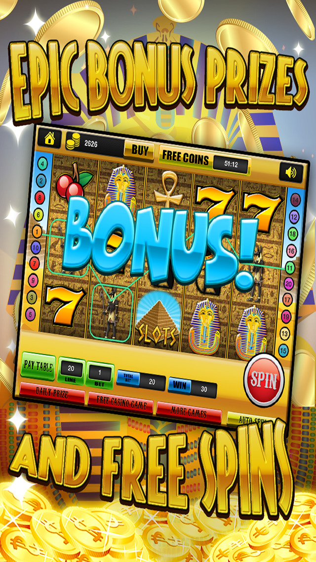 Ace Slots Pharaoh's Gold - Jackpot Kingdom Journey Slot Machine Games Free screenshot 4