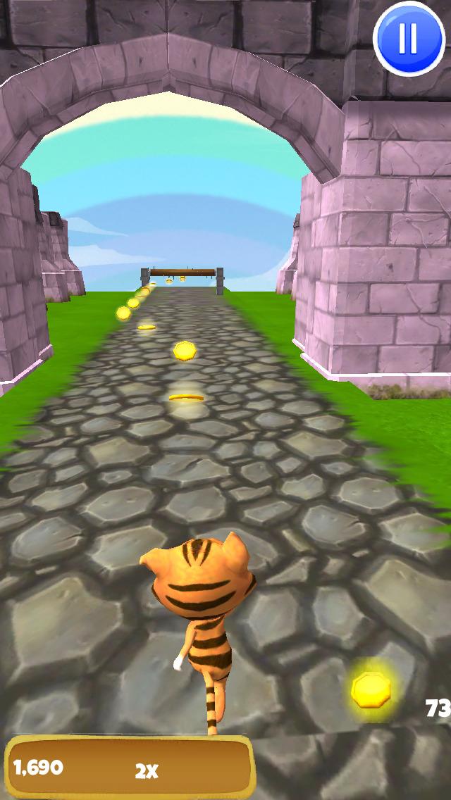 A Tiger Dash 3D: Animal Kingdom of Cats - FREE Edition screenshot 2
