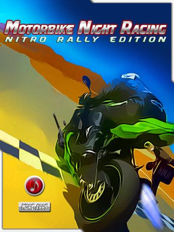 Motor Bike Night Rally Pro - Nitro Boost screenshot 6