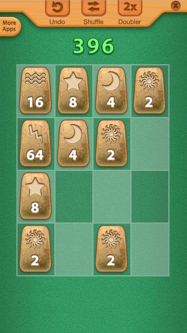2048 Aztec Rune Stones Mini Puzzles screenshot 1