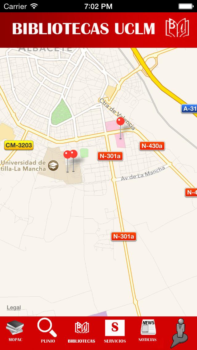 Biblioteca UCLM Universidad de Castilla La Mancha screenshot 2