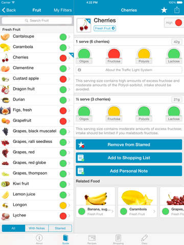 Monash University FODMAP diet screenshot 7