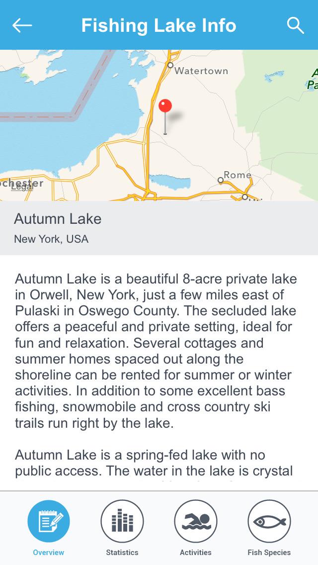 New York Fishing Lakes screenshot 3