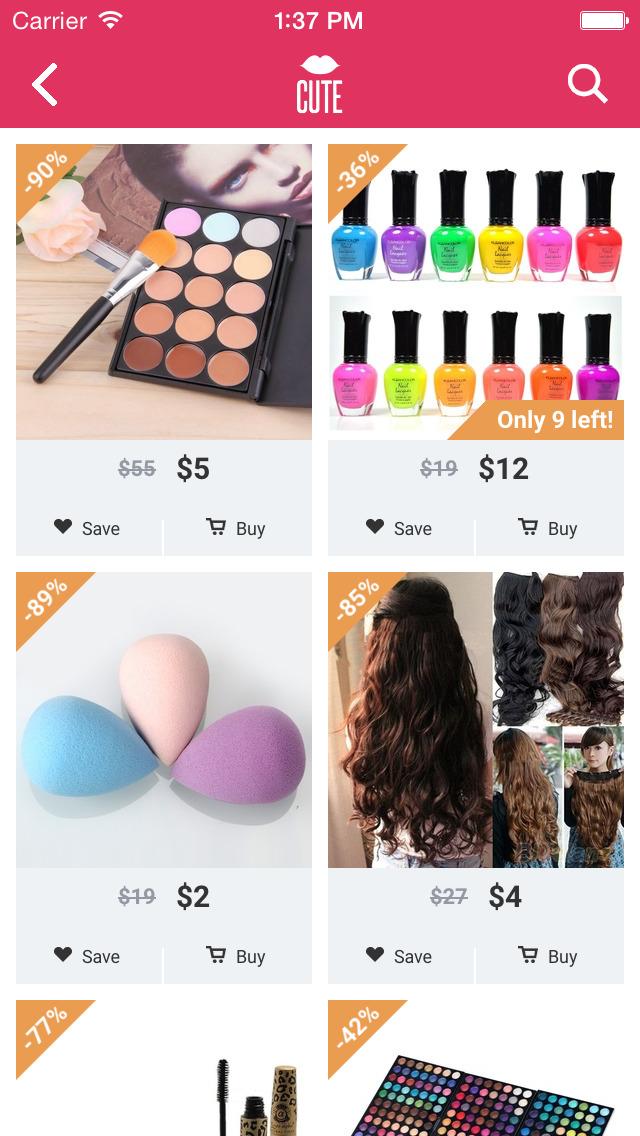 Cute - Beauty Shopping screenshot 1