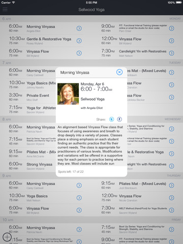 Sellwood Yoga App screenshot 5
