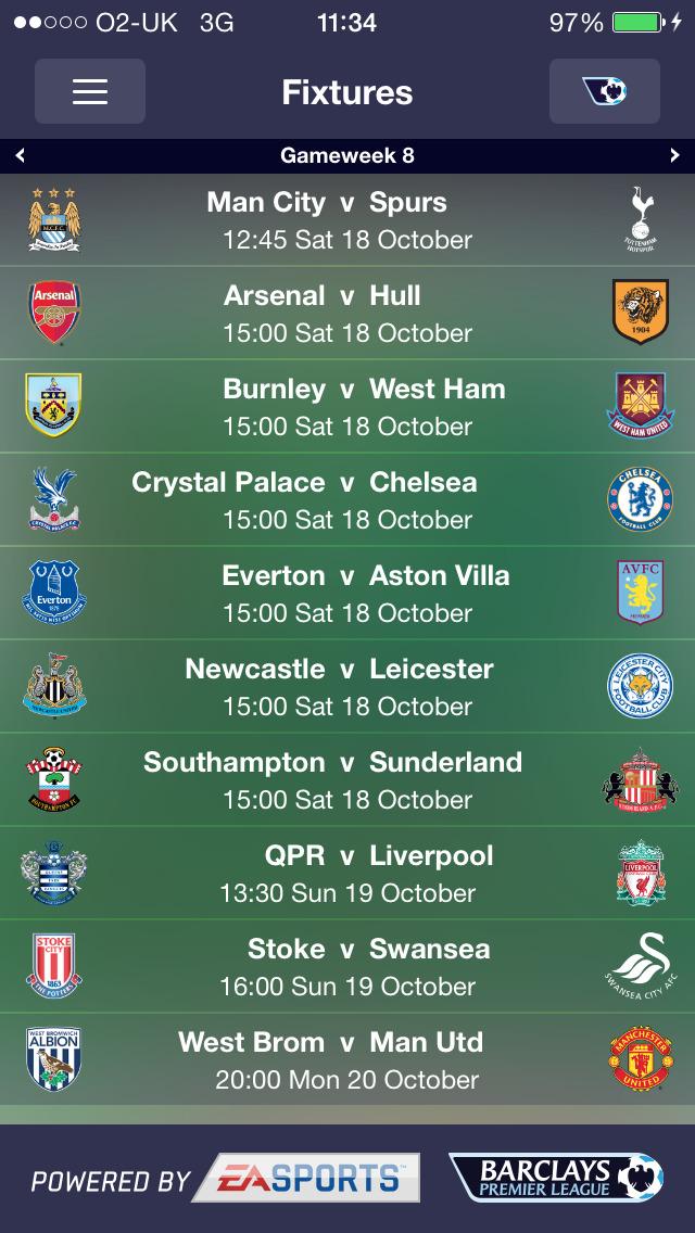 Fantasy Premier League 2014/15 – Official App screenshot #5