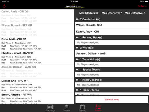 RT Sports Football Manager 2014 by RotoWire screenshot 10
