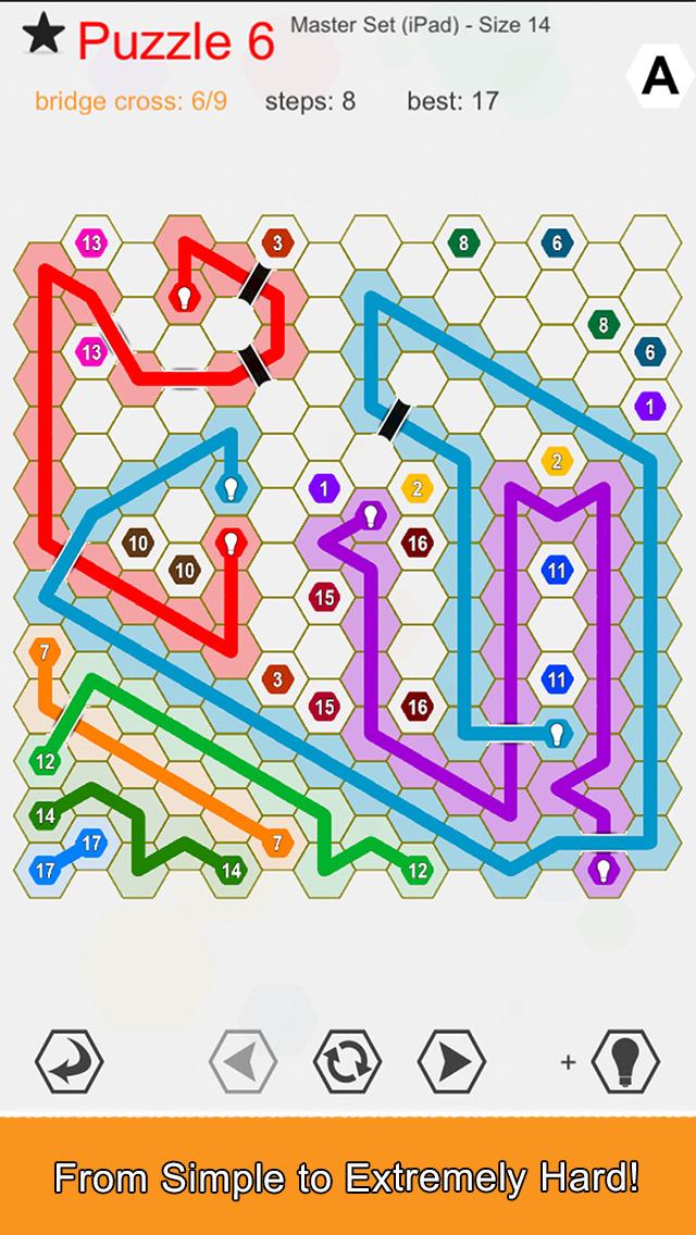 Hexic Link: Bridges screenshot 2