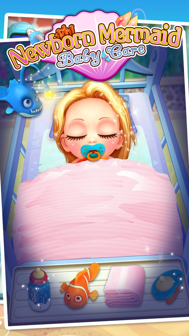 Mermaid's Newborn Baby Doctor - kids game & new baby screenshot 2