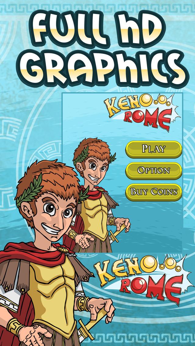 ```777``` Caesars Video Keno - Rome Adventure Casino screenshot 4