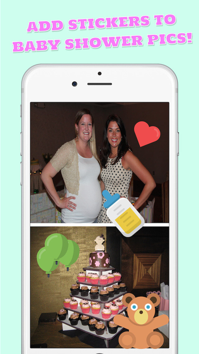 Baby Shower Photo Stickers - Instagram & Facebook Sharing Edition screenshot 1