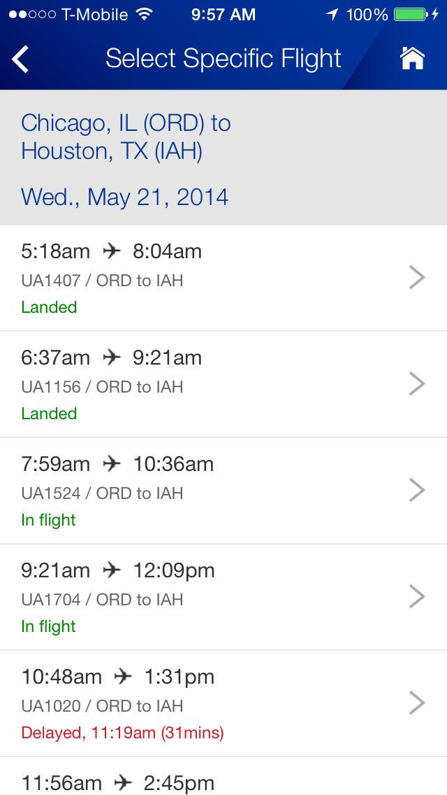 United Airlines screenshot 3