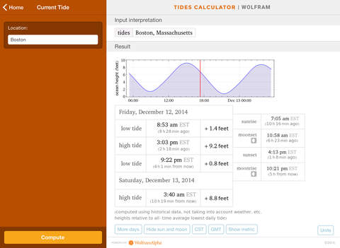 Wolfram Tides Calculator screenshot 8