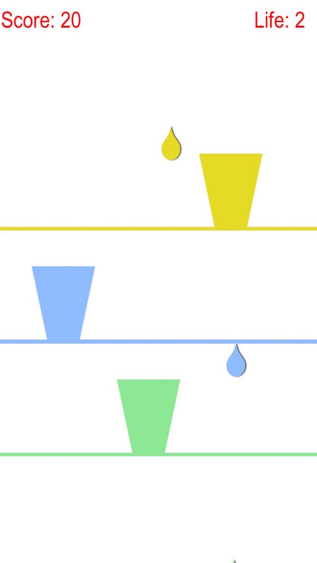 Collect Colorful Raindrop With Glass Cup at Finger Tip Free screenshot 3