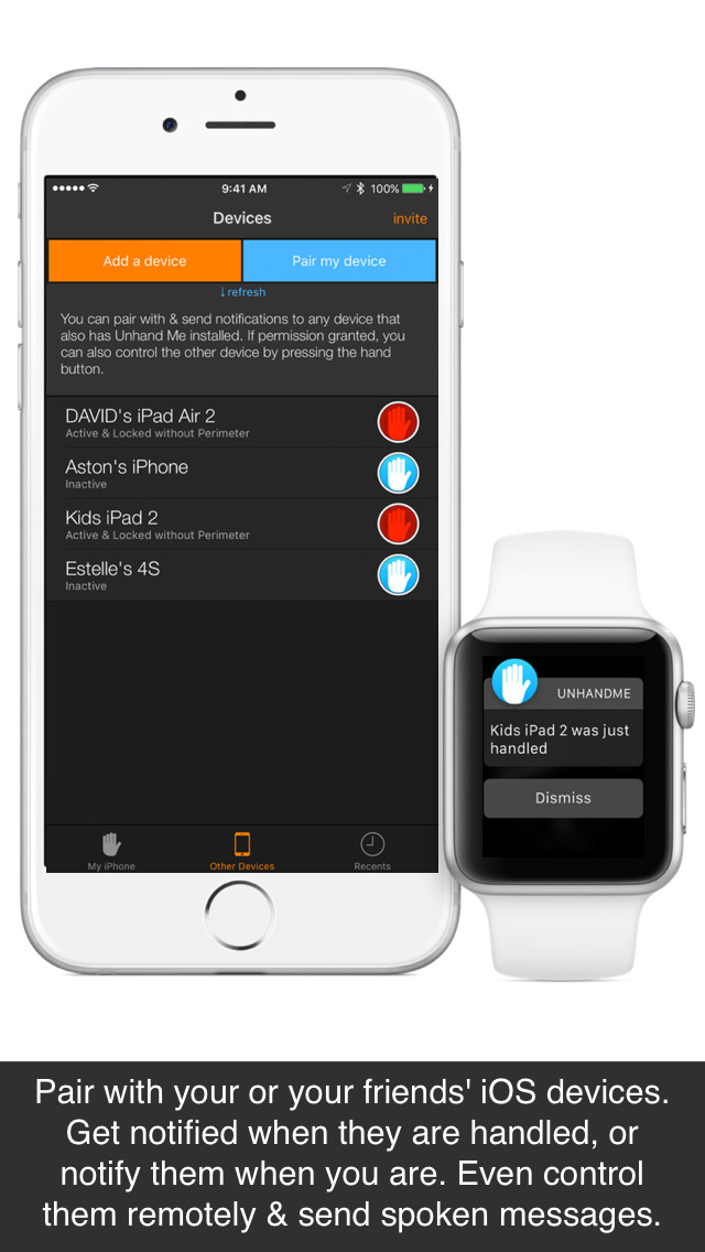 Unhand Me! Get notified on your watch when someone handles your phone screenshot 4
