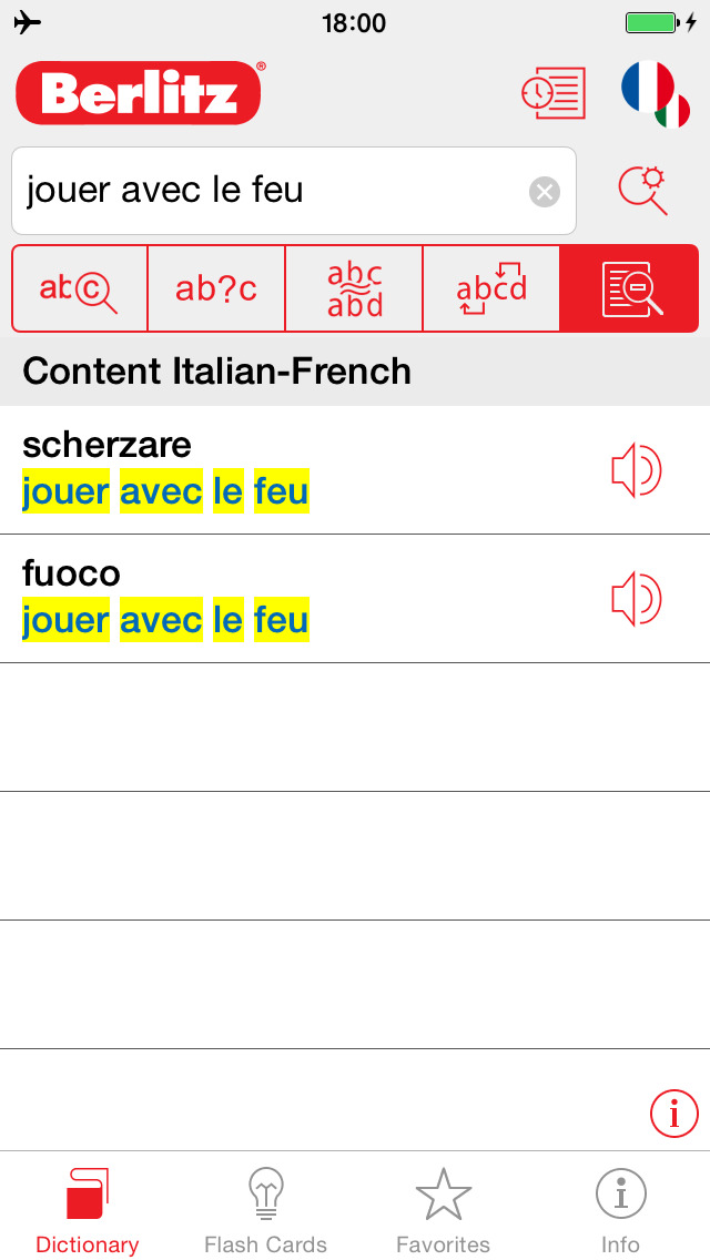 Italian - French Berlitz Mini Talking Dictionary screenshot 2