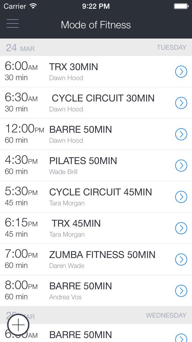 Mode of Fitness Seattle screenshot 1
