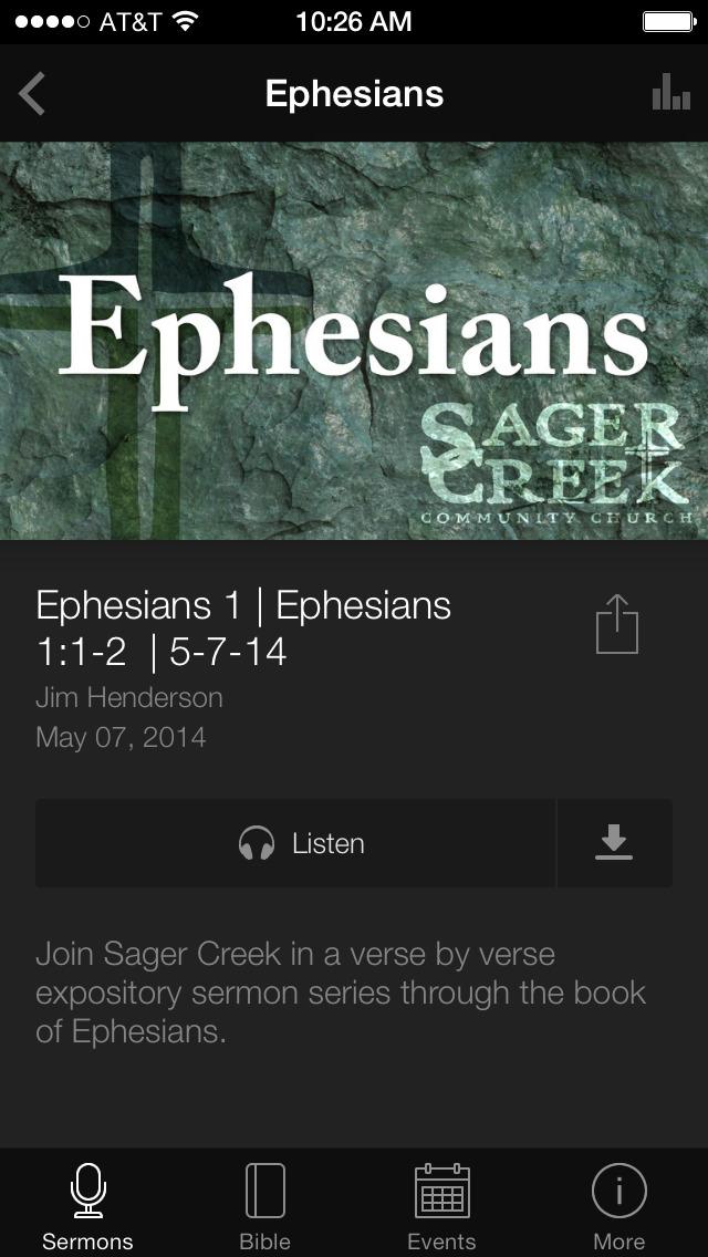 Sager Creek Community Church screenshot 3