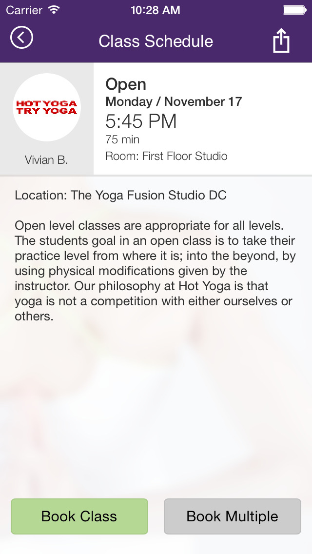 The Yoga Fusion Studio screenshot #4