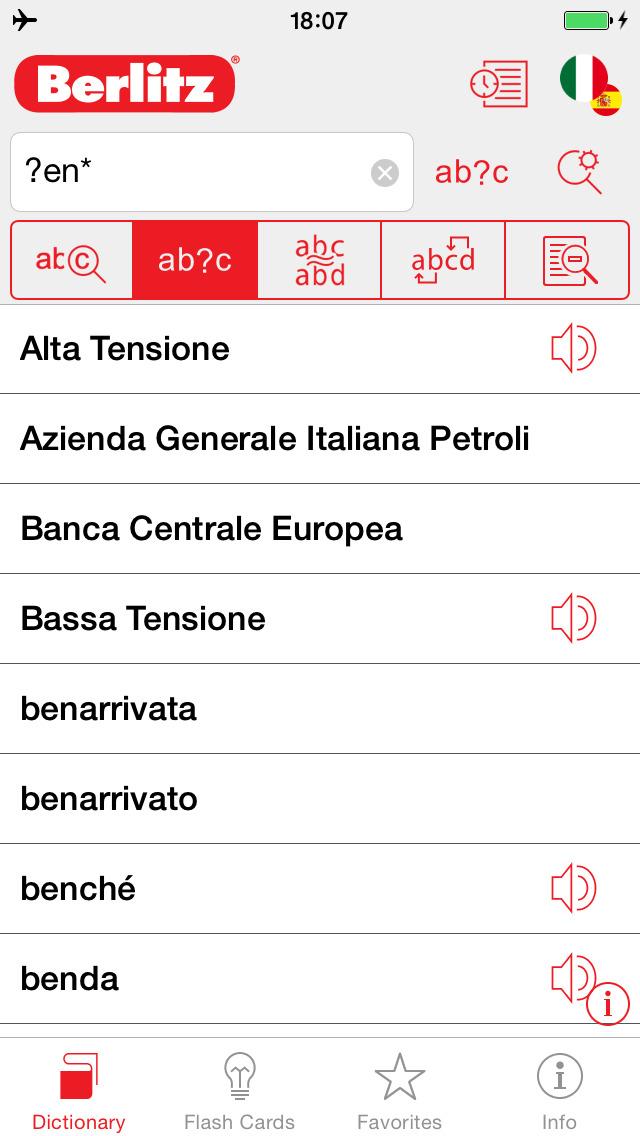 Italian - Spanish Berlitz Basic Talking Dictionary screenshot 4