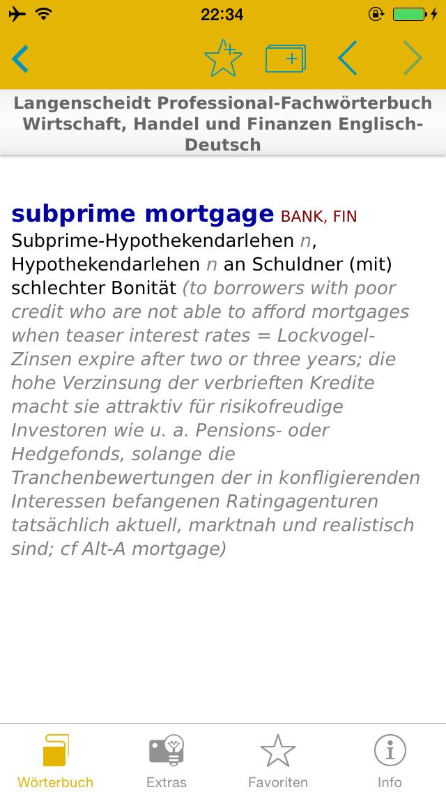 Wirtschaft, Handel und Finanzen Englisch<->Deutsch Fachwörterbuch Professional screenshot 2