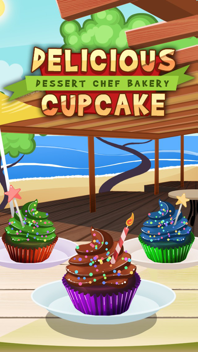 Awesome Delicious Cupcake Dessert Chef Bakery screenshot 1