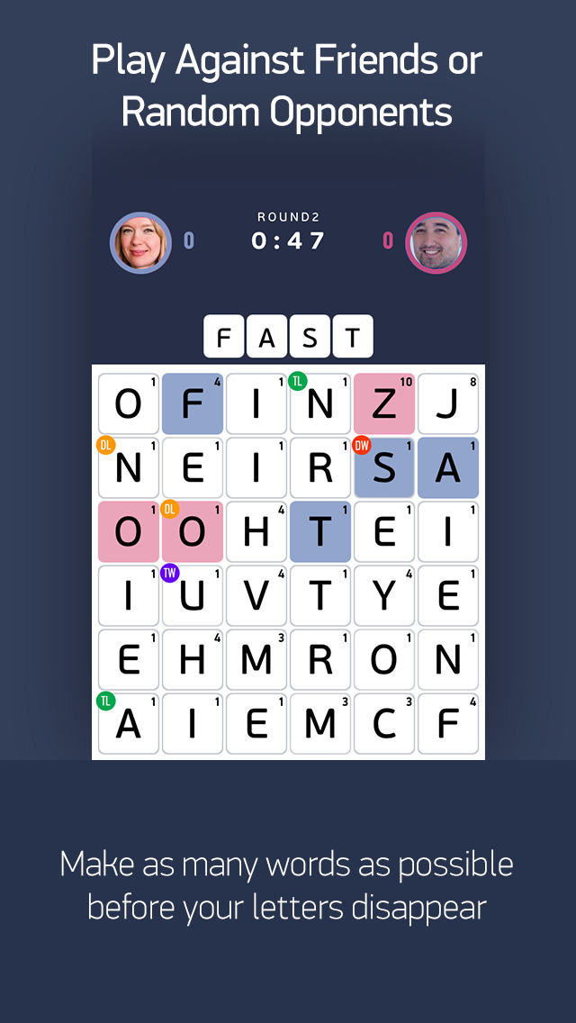 FastWord – A Fast, Smart & Strategic Word Game to Play with Friends screenshot 2
