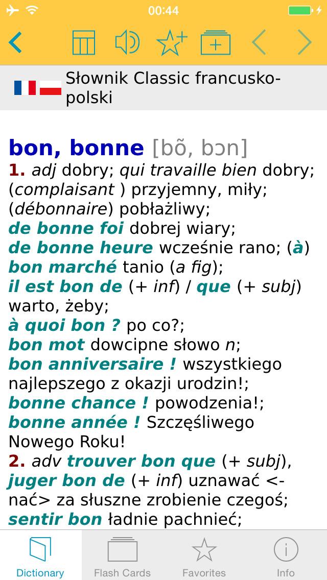 Słownik CLASSIC polsko <-> francuski screenshot 1