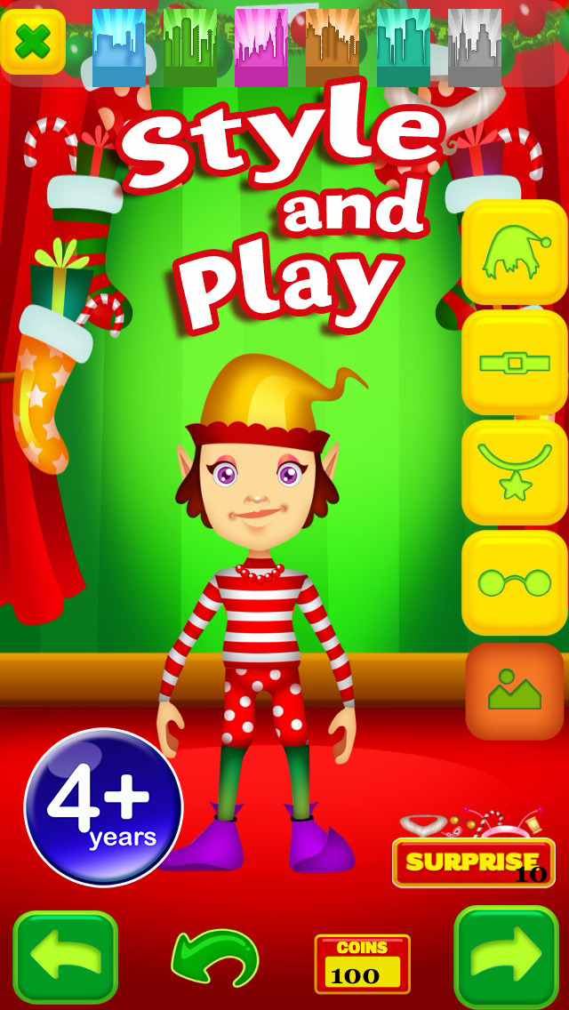 My Magic Little Elf and Fairy Princess Dream Xmas Party Adventure Free Dress Up Game screenshot 3