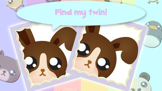 Play with Cute Baby Pets Chibi Memo Game for a whippersnapper and preschoolers screenshot 1