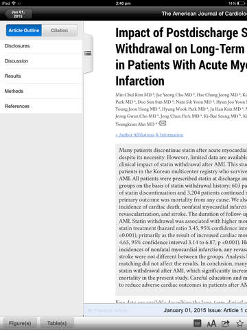 American Journal of Cardiology screenshot 7