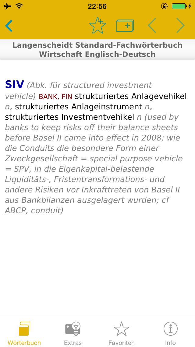 Wirtschaft Englisch<->Deutsch Fachwörterbuch Standard screenshot 1